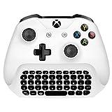 MoKo Xbox One Mini Keyboard, 2.4G Receiver Wireless Chatpad Message Game Keyboard Keypad for Xbox One/Xbox One S Controller, White