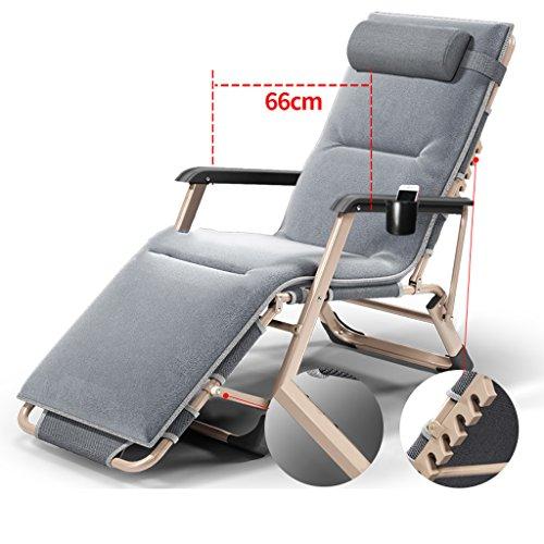 chaise pliante extérieure pliante - Chaise pliante Chaise pliante pliable Chaise d'après-midi Chaise de pique-nique de bureau Chaise de pliage simple Chaise de plage (Couleur : Gray)