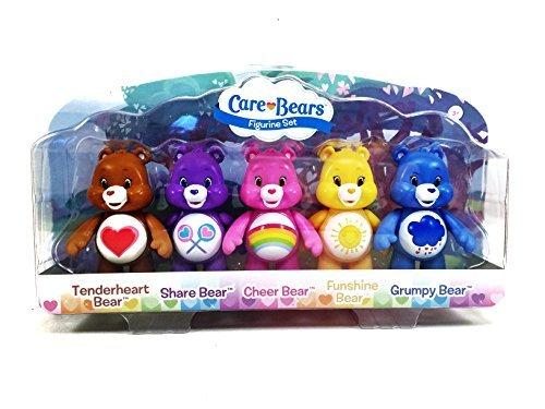 Set: Tenderheart, Share, Cheer, Funshine, & Grumpy Bear, 3 Inches by Care Bears ()