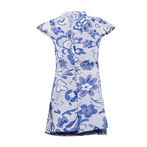 Winwinfly Doll Kleid Kleidung Chinesische Cheongsam Abendkleider Zubehör Blau Und Weiß Porzellan