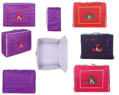 Rishav Handicraft Storage Bag in Cotton for Suits and Shawls and Sarees Clothes Bags