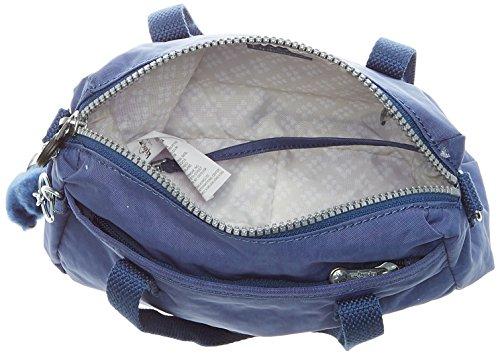 Kipling Damen Emoli Henkeltasche, 12 x 23.5 x 18 cm Blau (Jazzy Blue)