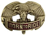 Born to Ride Brass Belt Buckle including Presentation Box