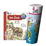 Ravensburger Kinder Sachbuch Wieso? Weshalb? Warum? | Im Zoo + Kinder Tier Weltkarte Poster by Collectix