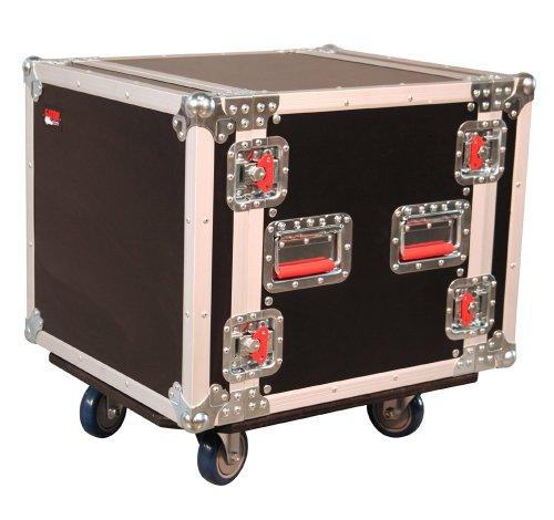 Gator Standard Audio Road Rack mit Rollen Standard mit Laufrollen 10U Rack Space schwarz (Rolling Rack)