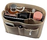 Lmeison Bag in Bag Taschenorganizer ,Beutel Handtaschen Organisator, Handtasche Einfügen Veranstalter Tasche Kosmetik für Damen-Beige M