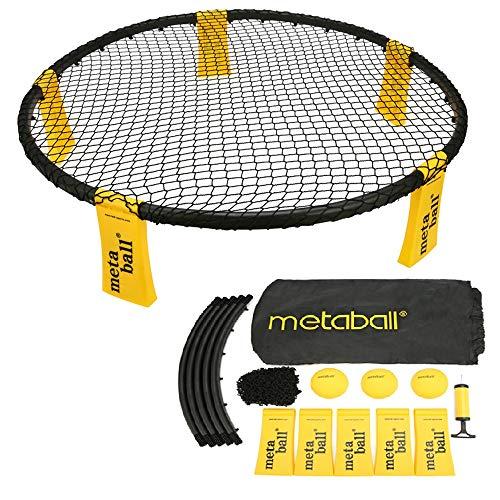 Lixada Mini Volleyball Spielset - Mit Netz, 3 Bällen, Tragetasche - Outdoor Beach Rasenteam Sportspiel für Jungen, Mädchen, Teenager, Erwachsene, Familien