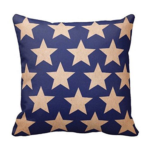 Americana Vintage Stars PillowCase 16x16 (Vintage Americana)