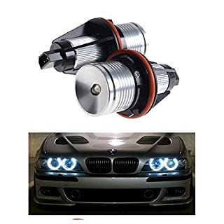 2Pack 7000K White High Power LED Angel Eyes Ring Marker Bulbs