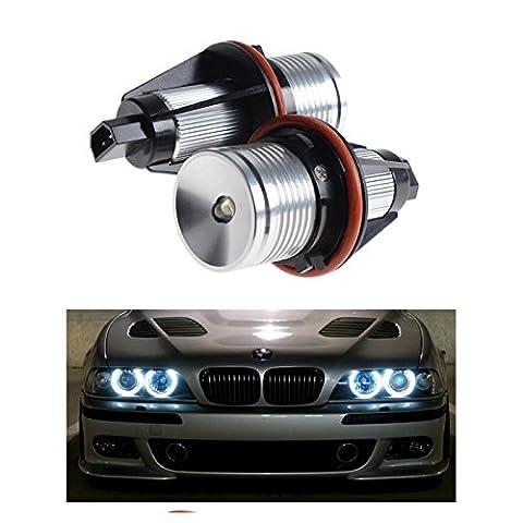 2PACK 7000K Weiß High Power LED Angel Eyes Ring Marker Leuchtmittel für BMW 567Serie X3X5(Passform E39E53E60E63E64E65E66E83)