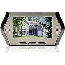 BW de 4.3 pulgadas LCD Peephole Digital Cámara de visión del monitor inteligente con el movimiento de detección de puerta Video Intercomunidad visión nocturna Timbre para la seguridad en el hogar (Cuando reciba la orden, por favor, vuelva a instalar la batería correctamente!)