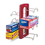 YouCopia StoreMore Adjustable WrapStand Kitchen Wrap Organizer Red