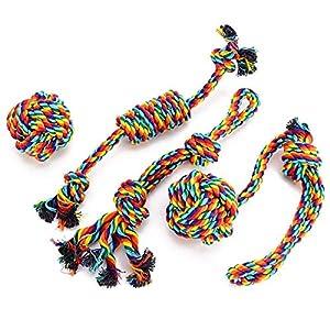 VIEWLON Hundespielzeug Seil, Entworfen Nur für Ihren Geliebten Hund. - Dieses Safe & Non-Toxic Cotton Chew Toys für Ihren Hund Zähne Reinigung und Stärkung der Beziehung zwischen Ihnen und Ihrem liebenden Hund - Unsere Hund...