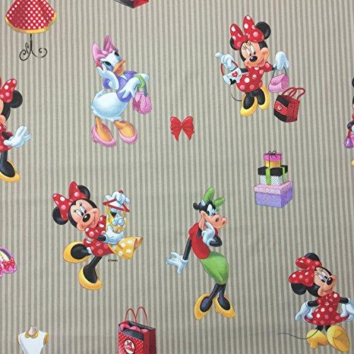 Disney Minnie Maus-Beige-Design, hochwertiges Lizenzprodukt, 100% Baumwolle, fein gewebt Children'Bettwäsche s, 140 cm breit, (Red Dress Minnie Mouse)