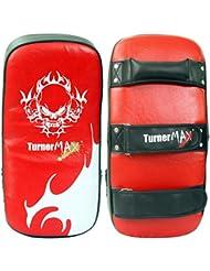 TurnerMAX Thai de piel curvados brazo de boxeo Kick Pad Formación Boxeo MMA Artes Marciales boxeo