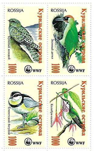 world-wildlife-fund-sheetlet-de-4-sellos-que-ofrecen-pjaros-rusia-mint-y-sin-montar