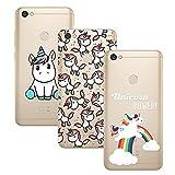 Young & Ming Xiaomi Redmi Note 5A Prime Case, [3 Pack]