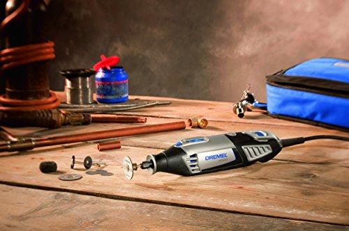 Dremel Multifunktionswerkzeug 4000-6/128 EZ (65tlg. Zubehör Set, Biegsame Welle, Kreis- und Parallelschneider, Werkzeugkoffer, 175 Watt) - 7