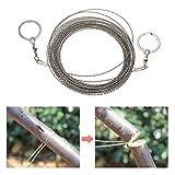 10 Meter Outdoor Drahtsäge mit Griffringen SeilSäge Sägedraht Kettensäge Taschen Säge für Survival Camping Garten