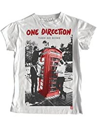 One Direction Ladies T-Shirt: Take Me Home (White, Skinny Fit) Size: X-Large