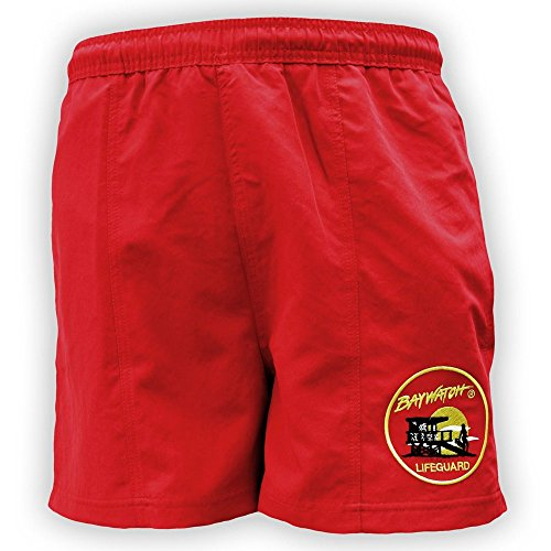 LIcensed Baywatch Swim Shorts for Men with Embroidered Logo - S to XXL