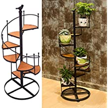 Flor Maceta Estantes Negro Metal Escalera De DiseñO Display Titulares 8 Tier 57Cm Europeo Retro Home