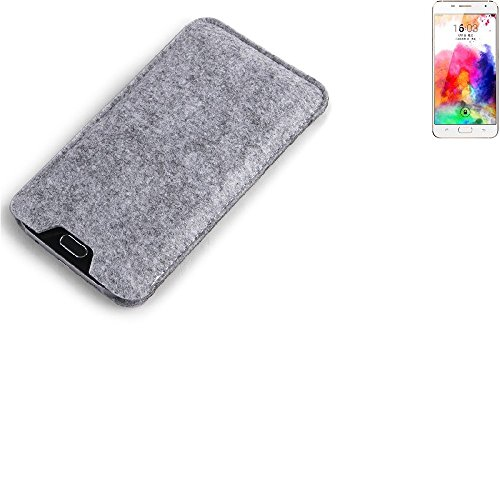 K-S-Trade Filz Schutz Hülle für Hisense A1 Schutzhülle Filztasche Filz Tasche Case Sleeve Handyhülle Filzhülle grau