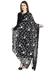 Dupatta Bazaar Womens Dupatta (DB1194_Black_Free Size)