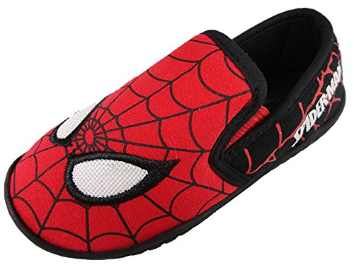 Spiderman, Pantofole bambini, rosso (Red/black), 24