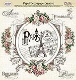 dayka Trade carta decoupage, Model Torre Eiffel, Multicolore, Taglia Unica
