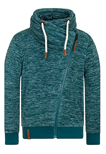 Naketano Male Zipped Jacket Gnadenlos durchgerattert Woodland Melange