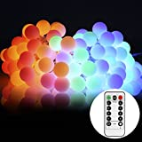 LED Globe String Lights S&G 13.3m 100 LEDs RGB Fairy Ball Starry Lights With Remote Control, 8 Modes Garden Patio Party Birthday Wedding Valentine's Day Indoor Outdoor Decoration Lighting