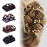 LQZ Magic Hair Combs Plastic Clips for Women - 4 Pieces
