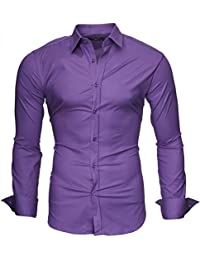 KAYHAN Homme Chemise Slim Fit Repassage facile, Manches Longues Modell - UNI 2017