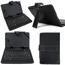 """DURAGADGET Etui noir + clavier AZERTY 7 POUCES intégré pour ASUS MeMO Pad 373T / ME172V / ME572C et Asus Zenpad C 7.0 ?(Z170C) tablettes 7"""" + stylet tactile BONUS"""