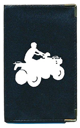 Astuccio protettivo porta carte grigio, con motivo., Quad (nero) - cg-tpas