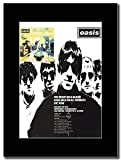 gasolinerainbows - Oasis - The Debut Gold Album Definitely Maybe - Rivista Opera d'Arte Promozionale su Un Supporto Nero - Matted Mounted Magazine Promotional Artwork on a Black Mount.