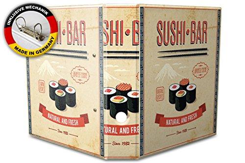 Raccoglitore a4 a 2 anelli 60mm stampato barra di sushi