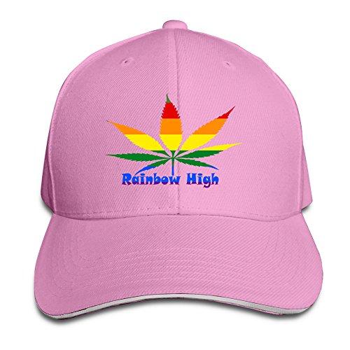 YSC-Dier Rainbow High Gay Lesbian Cool Flat Bill Adult Unisex Cap Pink