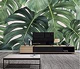 (250X200CM), Alte Zeitung 3D tapete - Nordischen Stil großes Bild tropische Blätter Bananen Blätter kleine frische - Wallpaper Poster Wanddekoration von Bestwind
