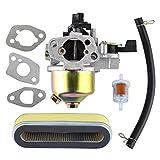 HIPA Carburateur et Filtre à Essence pour Honda HR194 HR195 HR214 HRA214 HR215 HRA215 HR216 HRA216 HRC216 GXV140 GXV120 Carb Remplacer 16100-ZE6-W01 / 16100-ZG9-803