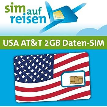 AT&T USA Prepaid Daten-Sim-Karte mit 2 GB aktiviert ...