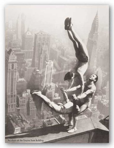 acrobats-on-the-empire-state-building-kunstdruck