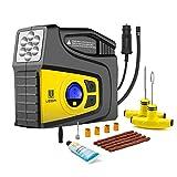 Compresor de Aire Automático,VOOKI bomba inflador portátil con luz LED Para Vehículos, Neumáticos, Pelotas, Objetos hinchables etc.