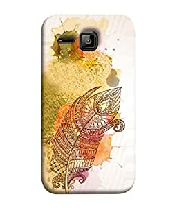 Micromax Bolt S301 Back Cover Feather Tribal Art Design From FUSON