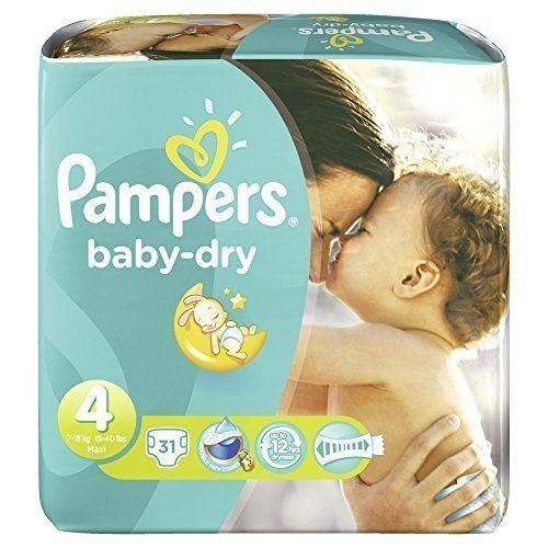 Pampers Baby Dry Gr.4 Maxi 7-18kg Sparpack 31 Stück