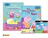 Unbekannt Peppa: Lustige 5-Minuten-Geschichten + Tolle Vorlesegeschichten mit Peppa (Hardcover) + 1 Peppa Pig Stickerbogen mit 20 verschiedenen Stickern