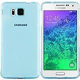 Samsung Galaxy Alpha Hülle in Blau - Silikonhülle Case Schutzhülle Tasche für Samsung Alpha (Rutschfest)