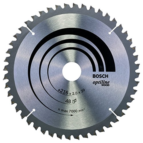 Bosch Professional Zubehör 2608640432 Kreissägeblatt Optiline Wood 216 x 30 x 2,0 mm, 48