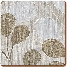 """Creative Tops Täglich Home """"Neutral Leaves"""" Unterseite aus Kork Untersetzer, Holz, braun, 4-tlg."""